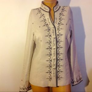 -50%off❗️NWOT Embroidered linen blouse.